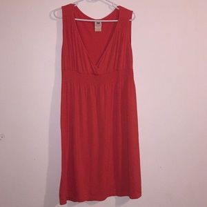 Red Stretch Summer Dress Plus Size 12/14